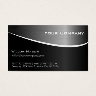 黒いステンレス鋼の専門の名刺 名刺