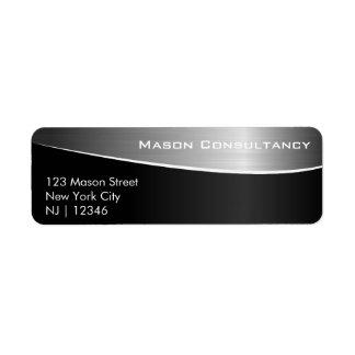 黒いステンレス鋼、一致の宛名ラベル ラベル