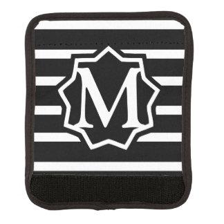 黒いストライプH1のモノグラム スーツケース ハンドルラップ