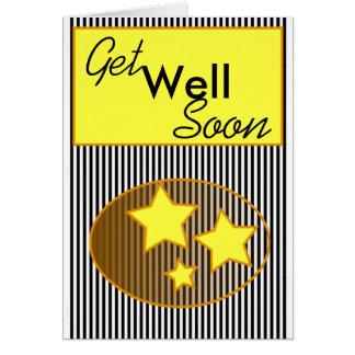 黒いストリップカードの健康なすぐに黄色い星を得て下さい カード