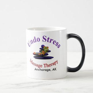 黒いストレスか白を11のozの変形させるマグ取消して下さい モーフィングマグカップ