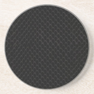 黒いスネークスキン コースター