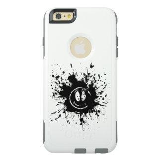 黒いスマイルの顔の点の芸術 オッターボックスiPhone 6/6S PLUSケース