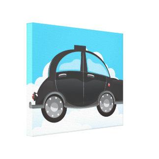 黒いタクシー キャンバスプリント