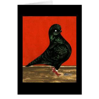 黒いタンブラーの水彩画 カード