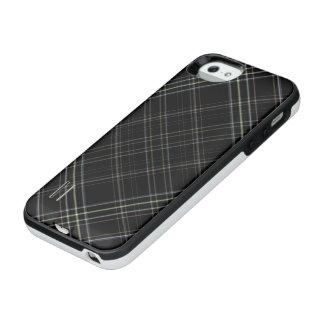 黒いタータンチェック iPhone SE/5/5sバッテリーケース