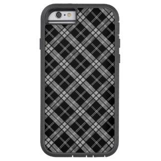 黒いタータンチェック TOUGH XTREME iPhone 6 ケース
