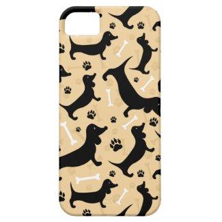 黒いダックスフント iPhone 5 Case-Mate ケース