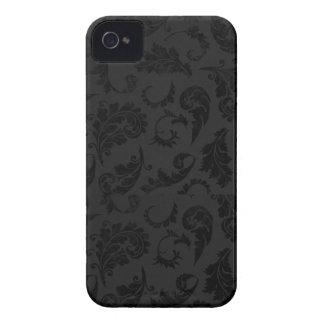 黒いダマスク織のiPhone 4/4Sの箱 Case-Mate iPhone 4 ケース