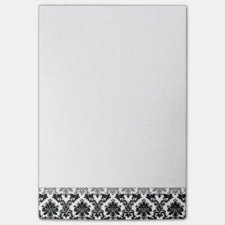 黒いダマスク織パターン ポスト・イット®ノート