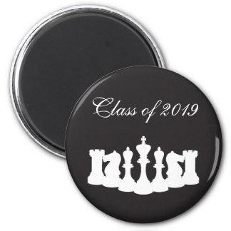 黒いチェスの卒業の白 マグネット