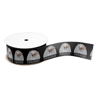 黒いチワワ犬のグログランリボン グログランリボン