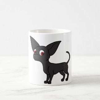 黒いチワワ コーヒーマグカップ