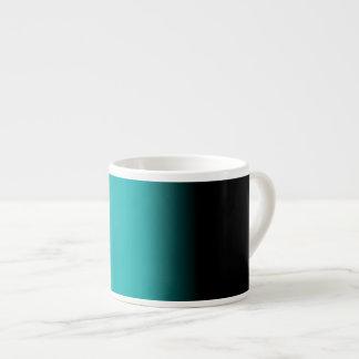 黒いティール(緑がかった色)の白いグラデーション エスプレッソカップ