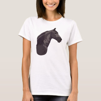 黒いテネシー州の歩くの馬 Tシャツ