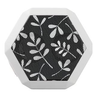 黒いデザインの大きい分類された白の葉 ホワイトBluetoothスピーカー