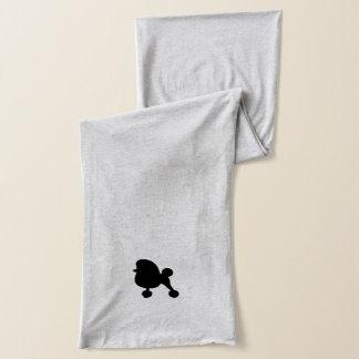黒いトイプードルのシルエット スカーフ
