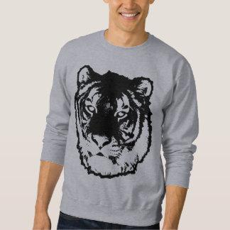 黒いトラ スウェットシャツ