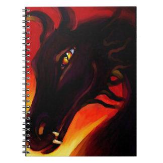 黒いドラゴンの螺線形ノート ノートブック