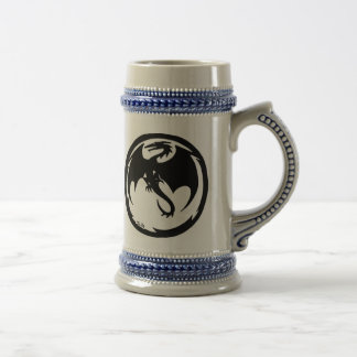 黒いドラゴン左ビールジョッキ ビールジョッキ
