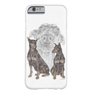 黒いドーベルマン犬犬 BARELY THERE iPhone 6 ケース