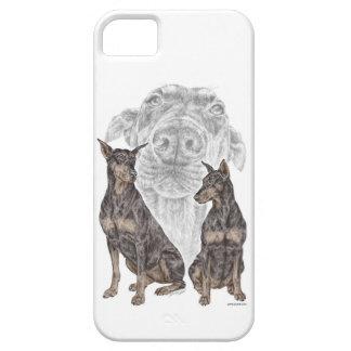 黒いドーベルマン犬犬 iPhone SE/5/5s ケース