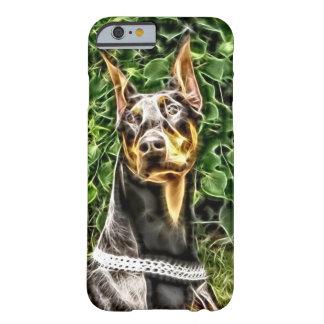 黒いドーベルマン犬Potrait (v3-3) Barely There iPhone 6 ケース