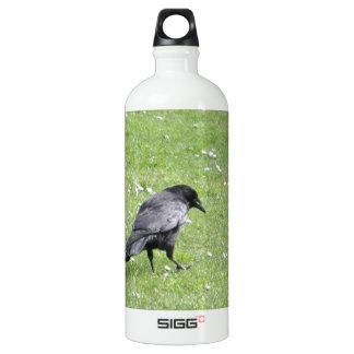 黒いハシボソガラス ウォーターボトル