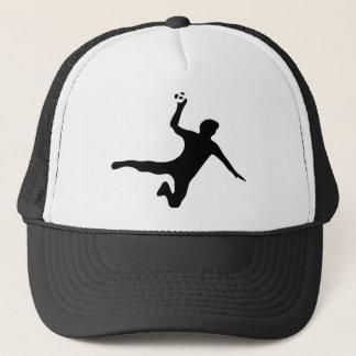 黒いハンドボールプレーヤーのロゴ キャップ