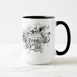 黒いハンドルとの異教のな芸術のマグの白 マグカップ