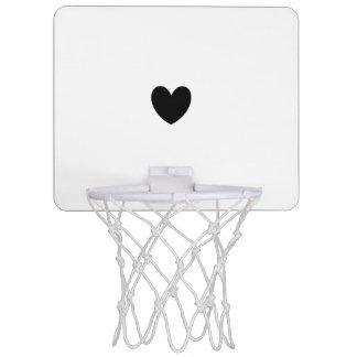 黒いハートの小型バスケットボールのゴール ミニバスケットボールゴール