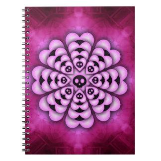 黒いハートの花のノート ノートブック