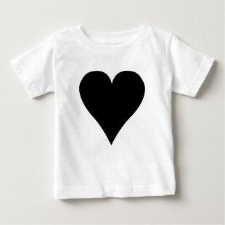 黒いハートのTシャツ ベビーTシャツ