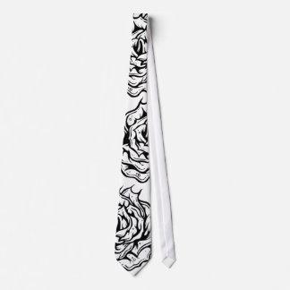 黒いバラのユニークなデザインのタイ ネクタイ