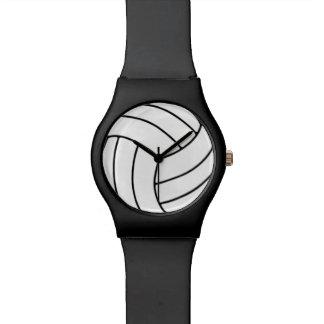 黒いバレーボールの腕時計 腕時計