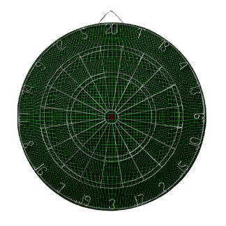黒いバーチャルリアリティ球の緑 ダーツボード