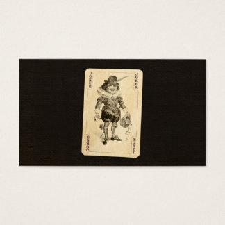 黒いバーラップのカードを遊んでいるヴィンテージのジョーカーは好みます 名刺