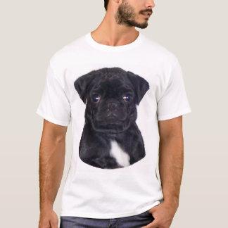 黒いパグ Tシャツ