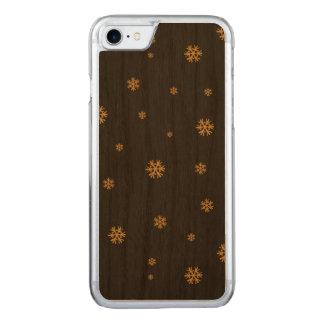 黒いパターンの金雪片-クリスマス CARVED iPhone 8/7 ケース