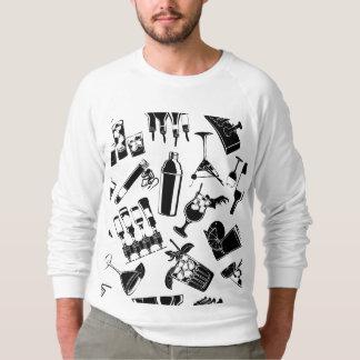 黒いパターンカクテルのバー スウェットシャツ