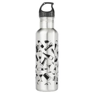 黒いパターン飲み物およびガラス ウォーターボトル