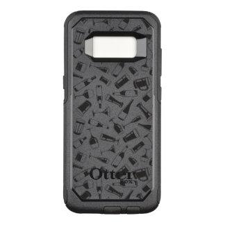 黒いパターン飲み物およびガラス オッターボックスコミューターSamsung GALAXY S8 ケース