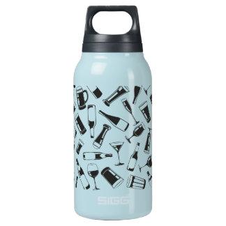黒いパターン飲み物およびガラス 断熱ウォーターボトル