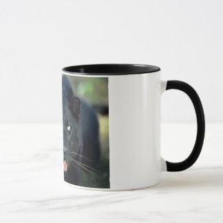 黒いヒョウのマグ マグカップ