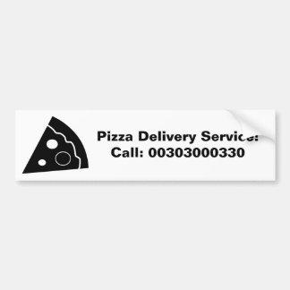 黒いピザ、ピザ配達サービス、 バンパーステッカー