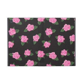 黒いピンクのバラによってはぼろぼろの花のシックなバラが開花します iPad MINI ケース