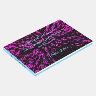 黒いピンクの青い退職パーティーの記憶か来客名簿 ゲストブック