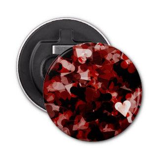 黒いピンク色の本当愛赤いハートの感情 栓抜き