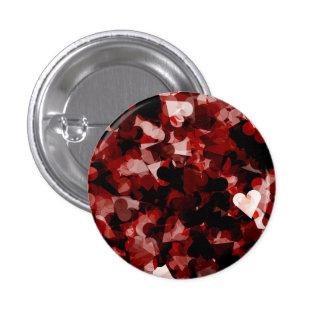 黒いピンク色の本当愛赤いハートの感情 3.2CM 丸型バッジ