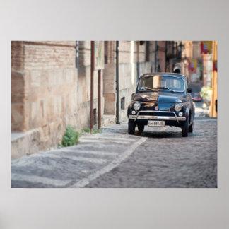 黒いフィアット500、イタリアのCinquecento、 ポスター